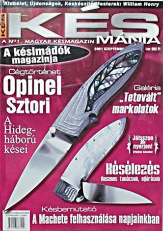 Késmánia magazin 11. szám, 2001 szeptember-október