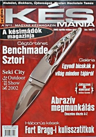 Késmánia magazin 12. szám, 2003 április-május