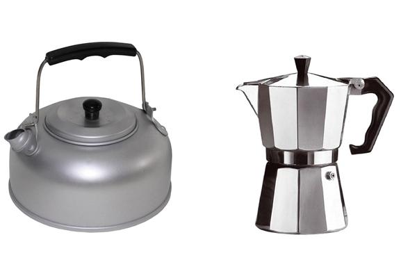 kávéfőzők, teáskannák