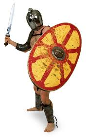 gladiátor páncélok, fegyverek